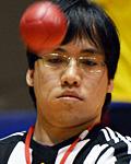 深津和道選手(オープン車いすクラス)