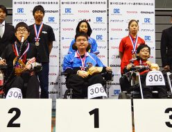 第19回日本ボッチャ選手権大会BC3表彰