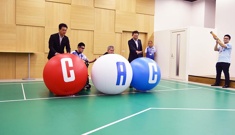株式会社CAC Holdings ボッチャコート落成式
